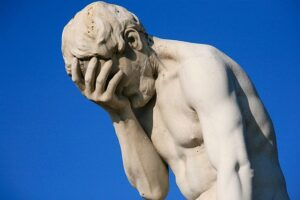 How Midwest Is That? paris tuileries garden facepalm statue